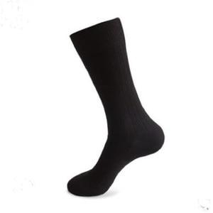 Image 1 - 12PCS = 6 זוגות 46, 47,48, 49,50 איחוד אירופי בתוספת גודל ארוך מוצק צבע גרבי גברים