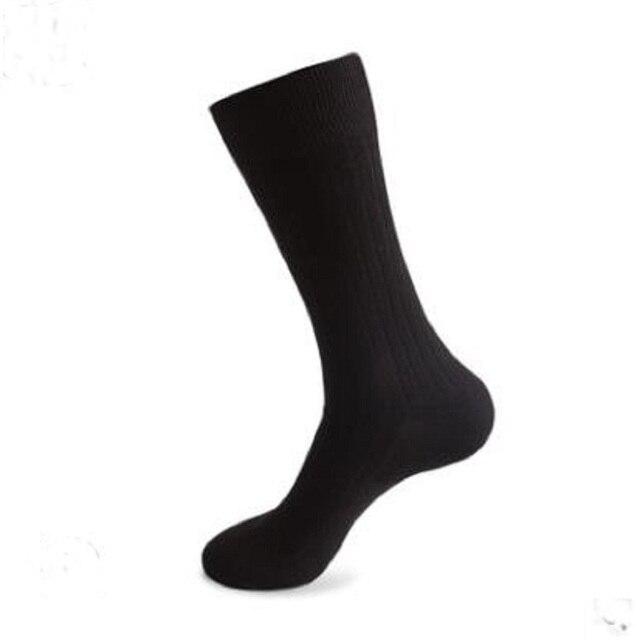 12PCS = 6 זוגות 46, 47,48, 49,50 איחוד אירופי בתוספת גודל ארוך מוצק צבע גרבי גברים