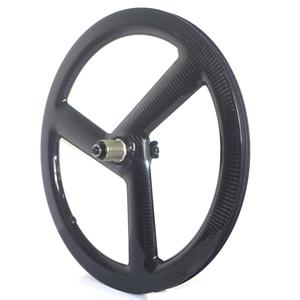 Image 3 - Tri Spoke 20 Inch 451 Carbon Wheelset BMX Folding bike wheels Disc Brake 3 Spoke Carbon Bike Wheels