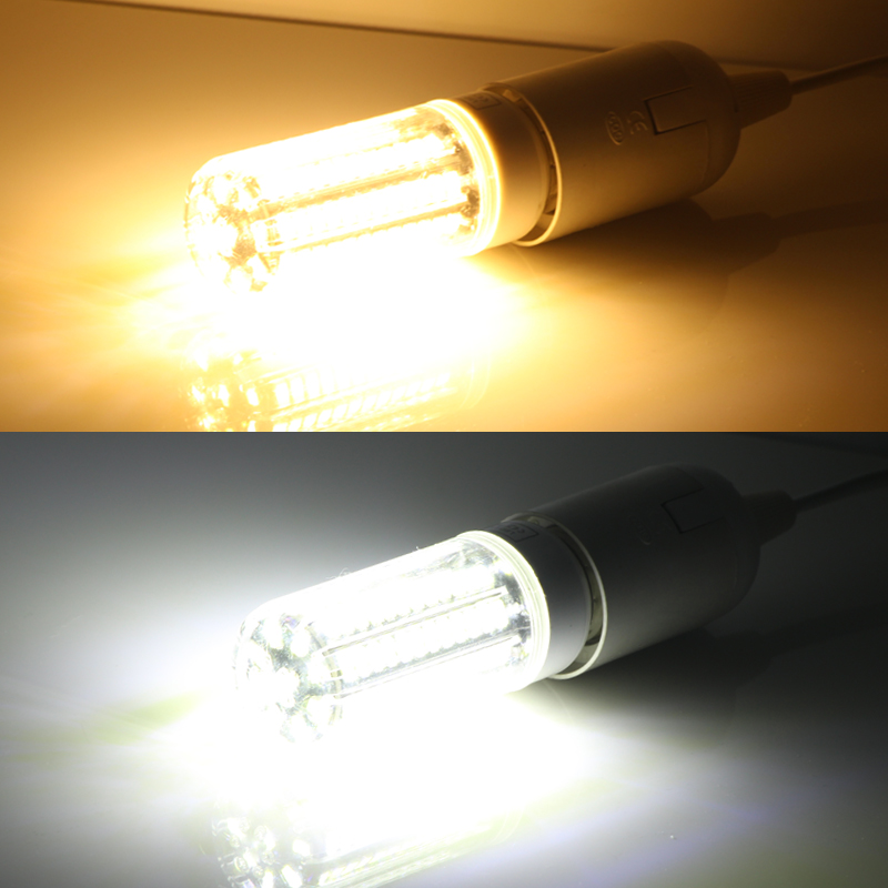 Купить с кэшбэком lampa led bulb light E27 E14 110V 220V 21W corn bulbs super SMD 5730 105 leds spotlight candle for home lighting E 27 high power