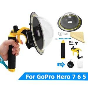 Image 2 - Go Pro Cupola Porta Per GoPro Eroe 7 6 5 Subacquea Impermeabile Custodia Scatola di Trigger Grip Della Cupola di Copertura Sfera accessori
