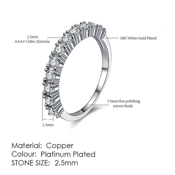 ZHOUYANG Ring For Women Simple Style Cubic Zirconia Wedding Ring Light Gold Color Fashion Jewelry KBR103 14
