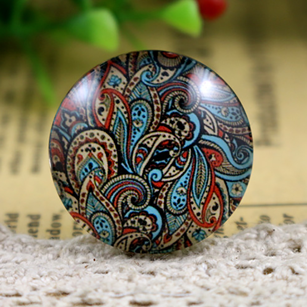 New Fashion  5pcs/Lot 25mm Handmade Photo Glass Cabochons Color Texture Series
