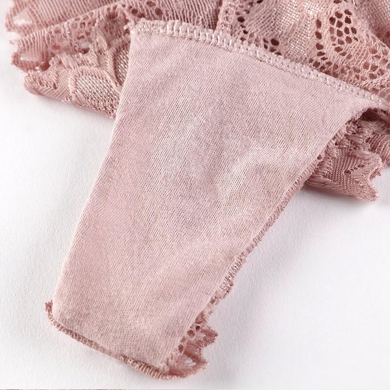 3 Pcs Panties Underwear Woman Lace Thong G String Sexy Briefs Lingerie Woman Thong T-back Lace Female Low Waist Women's Panties - underwear