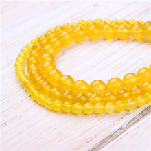 Yellow Agate Natural Stone Beads For Jewelry Making Diy Bracelet Necklace 4/6/8/10/12 mm Wholesale Strand