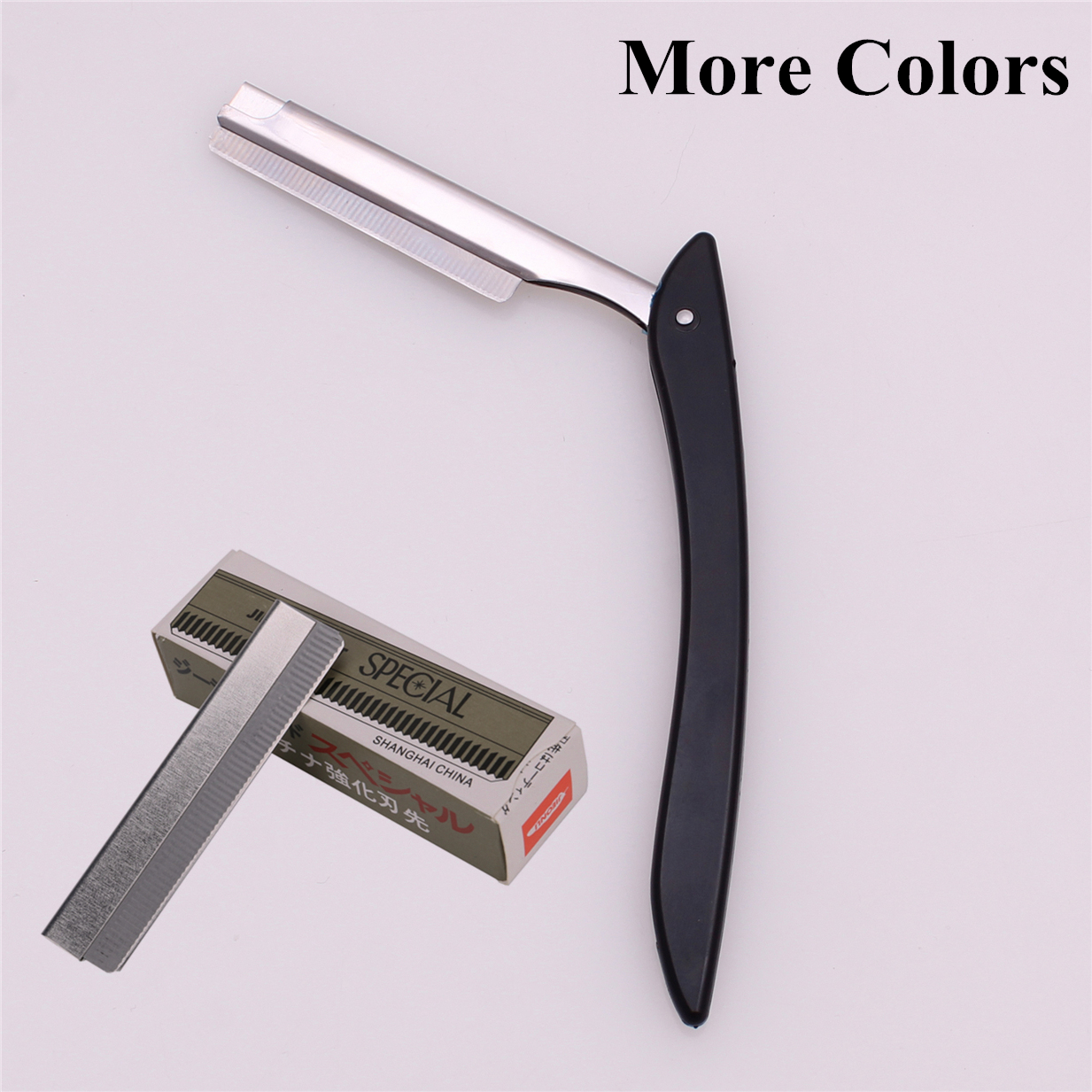 Shaving Razors Barber Hair Cut Razor Blades Male Female Eyebrow Trimmer Folding Shaver Knife ABS Holder 1 + 10 Blade 108#