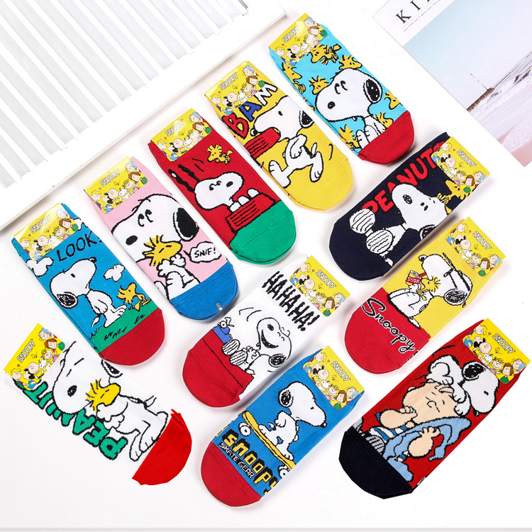 Hot sell 11pairs 2019 Spring Autumn New Korean Import Fashion Animation Cartoon Christmas gifts for women cute socks kawaii