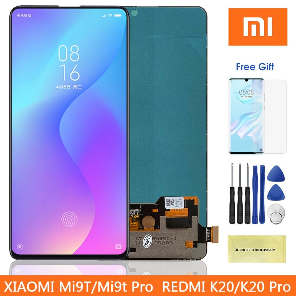"6.39"" Super Amoled Mi 9T Pro LCD For Redmi K20 Pro Lcd display Touch Screen Digitizer Parts For Xiaomi9T MI9T Pro Redmi K20 Lcd(China)"