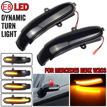 2pcs Side Mirror indicator Dynamic Blinker LED Turn Signal Light For Mercedes Benz C Class W203 S203 CL203 2001   2007