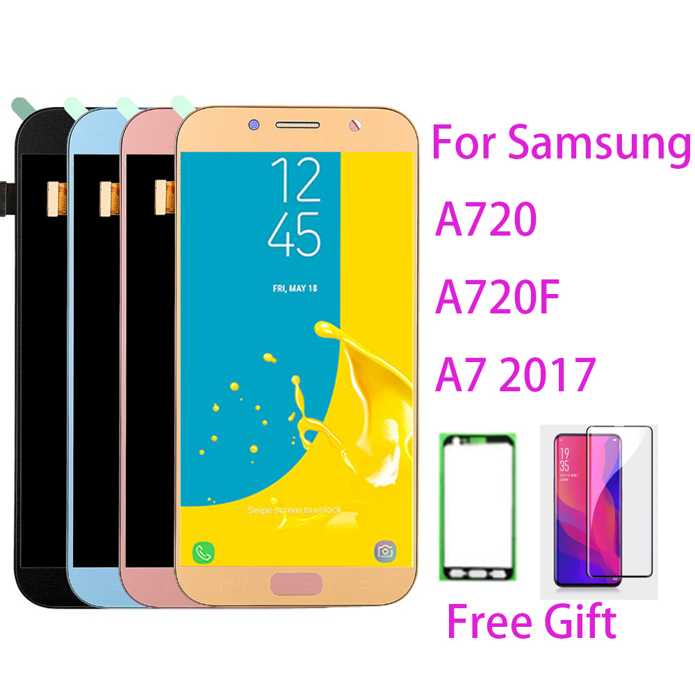 TFT LCD <font><b>Screen</b></font> For <font><b>Samsung</b></font> Galaxy A720 Touch <font><b>Screen</b></font> Digitizer LCD Display For <font><b>Samsung</b></font> A7 2017 <font><b>A720F</b></font> <font><b>A720F</b></font> LCD Assembly image
