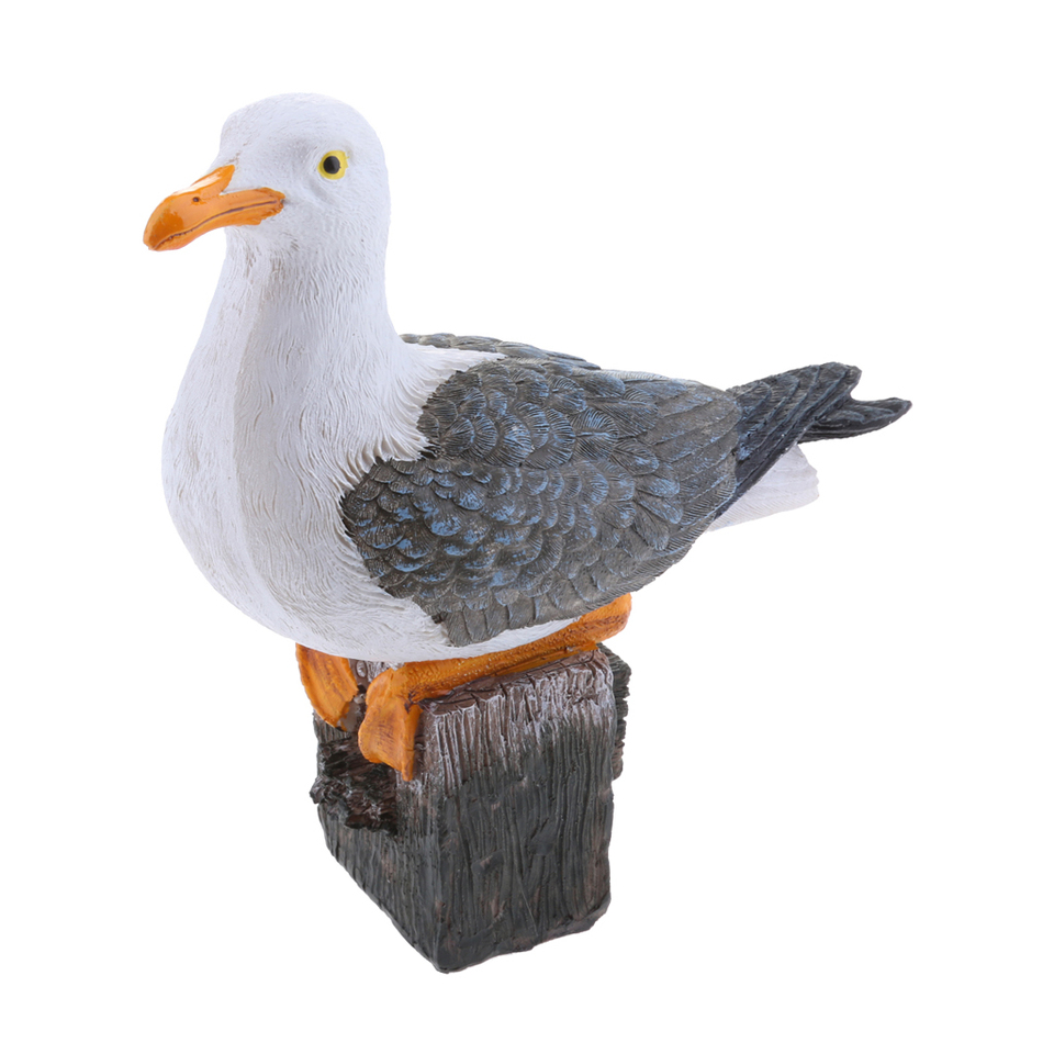 2 x Creative Art Decor Seagull Bird Statue for Nautical Themed Room Ornament