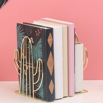 Nordic ins stylowe wielofunkcyjne przenośne czytanie regał metalowa do książek stojak Fordable dokument stojak na książkę akcesoria biurowe tanie i dobre opinie iron Bookends