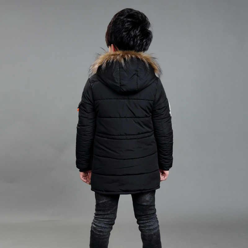 Kid Winter Jas EEN Jongen Park 12 Kinderkleding 13 Jongens 14 Winter Kleding 15 Jas 16 Dikke Katoenen verdikking-30 Graden