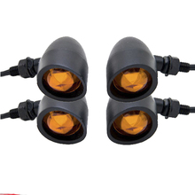 4x Motorcycle Motorbike Turn Signal Flasher Front Rear Indicator Light For Harley Davidson XL Sportster 1200