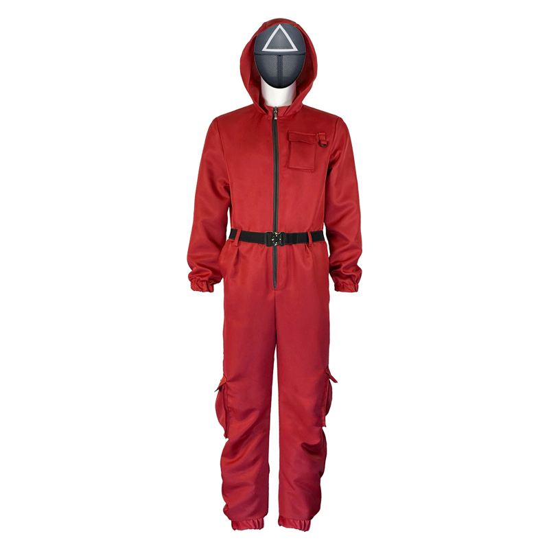 role play round seis vermelho macacão uniforme