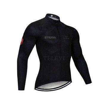 2019 strava outono manga longa camisa de ciclismo conjunto bib calças ropa ciclismo roupas de bicicleta mtb camisa uniforme roupas masculinas 10