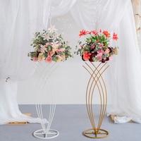 JAROWN Wedding Silk Fake Flower Stand Set Stage Scene Layout Floral DIY Flower Arrangement Wedding Road Lead Flower Ball Decor