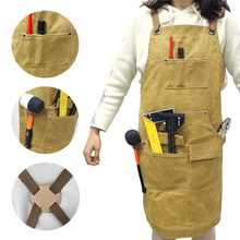Woodworking Garden Tool Apron Fireproof Oil Proof Waterproof Apron Canvas Oil Wax Thick Apron Apron Collector wq002 kitchen oil proof cloth apron black