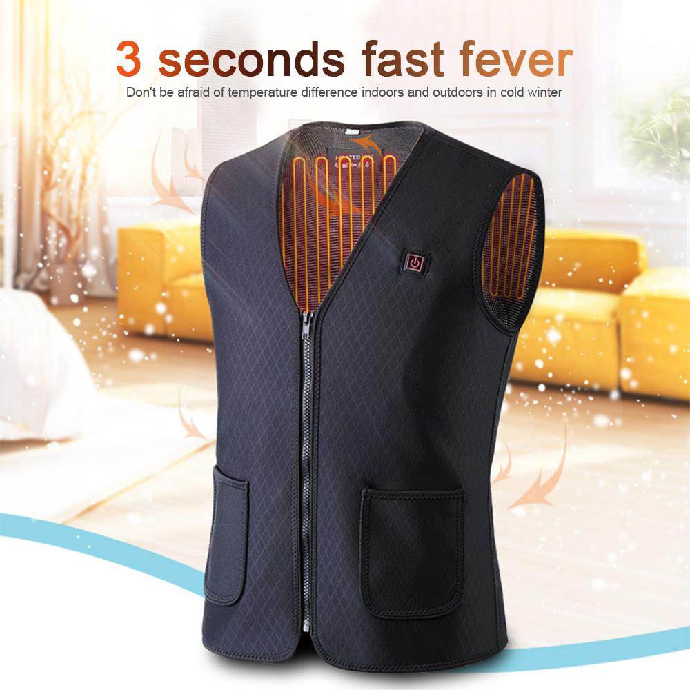 USB Infrared Heating Vest Jacket Electric Thermal Clothing Waistcoat for Women Men Outdoor Hiking Camping Cycling Warm Jacket