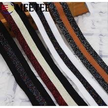 9yard 2.5/3/3.5cm Cotton Gold Silver Knitting Webbing Lace Trim Woven Ribbon DIY Handmade Sewing Clothing Waistband Deco AP564
