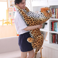 large plush simulation leopard toy huge stuffed real life leopard doll gift about 120cm