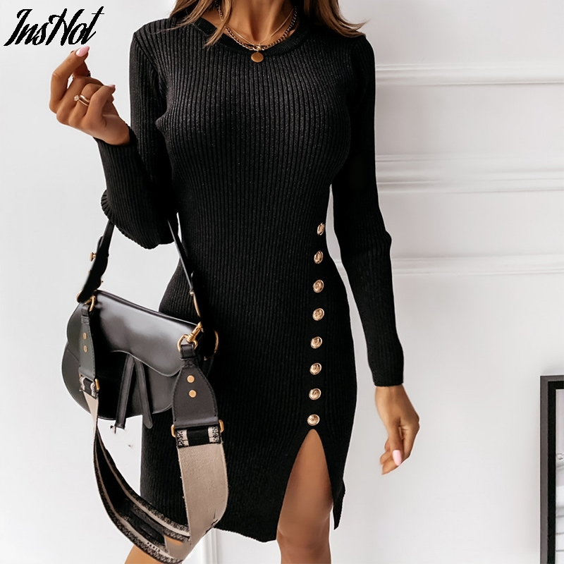 Best Winter Long Dress Knit Ideas And Get Free Shipping A642
