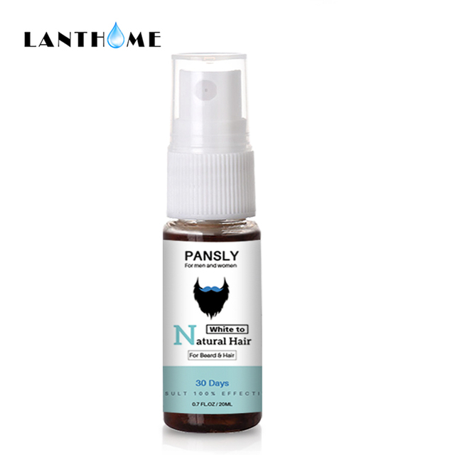 Organic Beard Hair Color Restore To Natural Hair Spray for Unisex Herbal Cure White Hair Treatment Grey Hair Cover Permanently