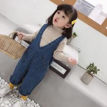 Baby denim overalls child autumn Spring Rompers bibs pants For kids boy girl trousers toddler longs jeans 5 years Children pants
