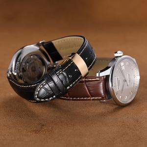 Image 4 - IStrap 18 مللي متر إلى 24 مللي متر جلد طبيعي حزام (استيك) ساعة الأشرطة ل IWC هاميلتون أوميغا كاسيو بريتلينغ تيودور مربط الساعة الرحلة التجريبية ساعة