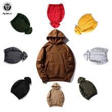 RUELK ยี่ห้อผู้ชาย Hoodies ฤดูใบไม้ผลิฤดูใบไม้ร่วงลำลองชายเสื้อบุรุษสีทึบ Hoodie Streetwear Tops M 5XL
