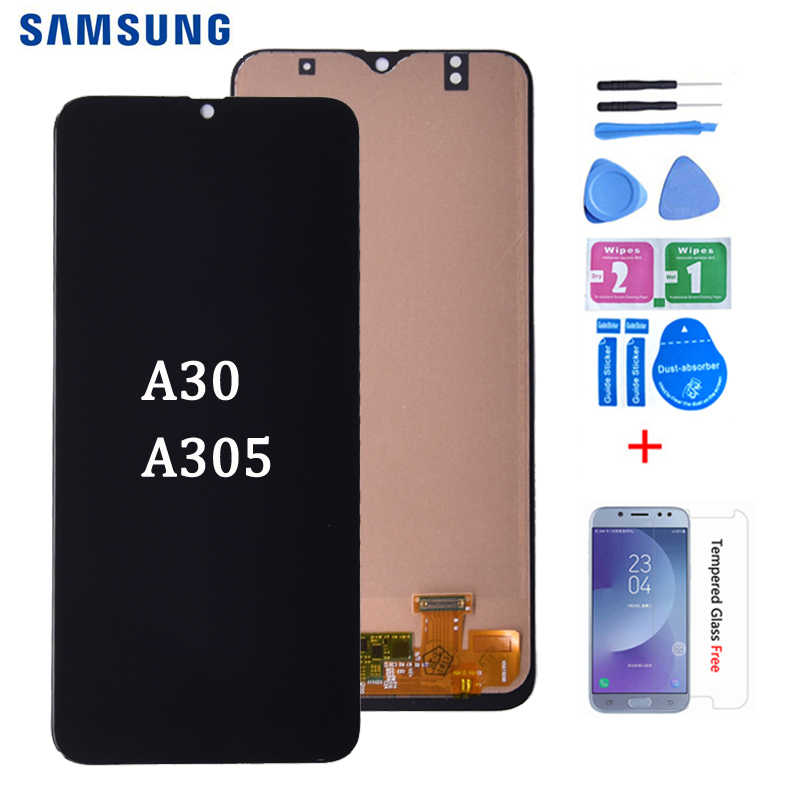 Lcd Display Voor Samsung Galaxy A30 A305DS A305FN A305G A305GN A305YN Met Touch Screen Digitizer Vergadering Gratis Verzending