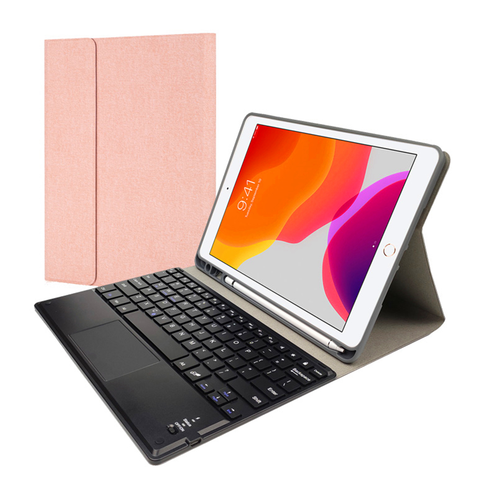 Keyboard Case For iPad 10.2 inch 2019 7th Gen Tablet Case PU Leather Flip Stand Detachable Bluetooth Touchpad Keyboard Protector