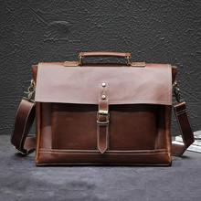 Teczki skórzane męskie torby męskie teczki torebki torebki biurowe dla torba męska skórzana torba na laptopa torba na biznes teczki tanie tanio GOEMIMI Pojedyncze Wewnętrzna kieszeń Wnętrze slot kieszeń Miękki uchwyt 38cm Hasp NONE Skóra syntetyczna leather