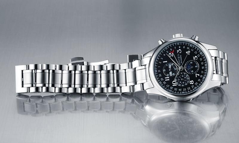 H5a2babd4cc554bac832e736a6263db83A GUANQIN Automatic Mechanical Men Watches Top Brand Luxury Waterproof date Calendar Moon Leather Wristwatch Relogio Masculino A