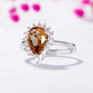 Image 3 - Kuololit Zultanite Gemstone Ring for Women Solid 925 Sterling Silver Created Color Change Water Drop Stone Ring Fine Jewelry