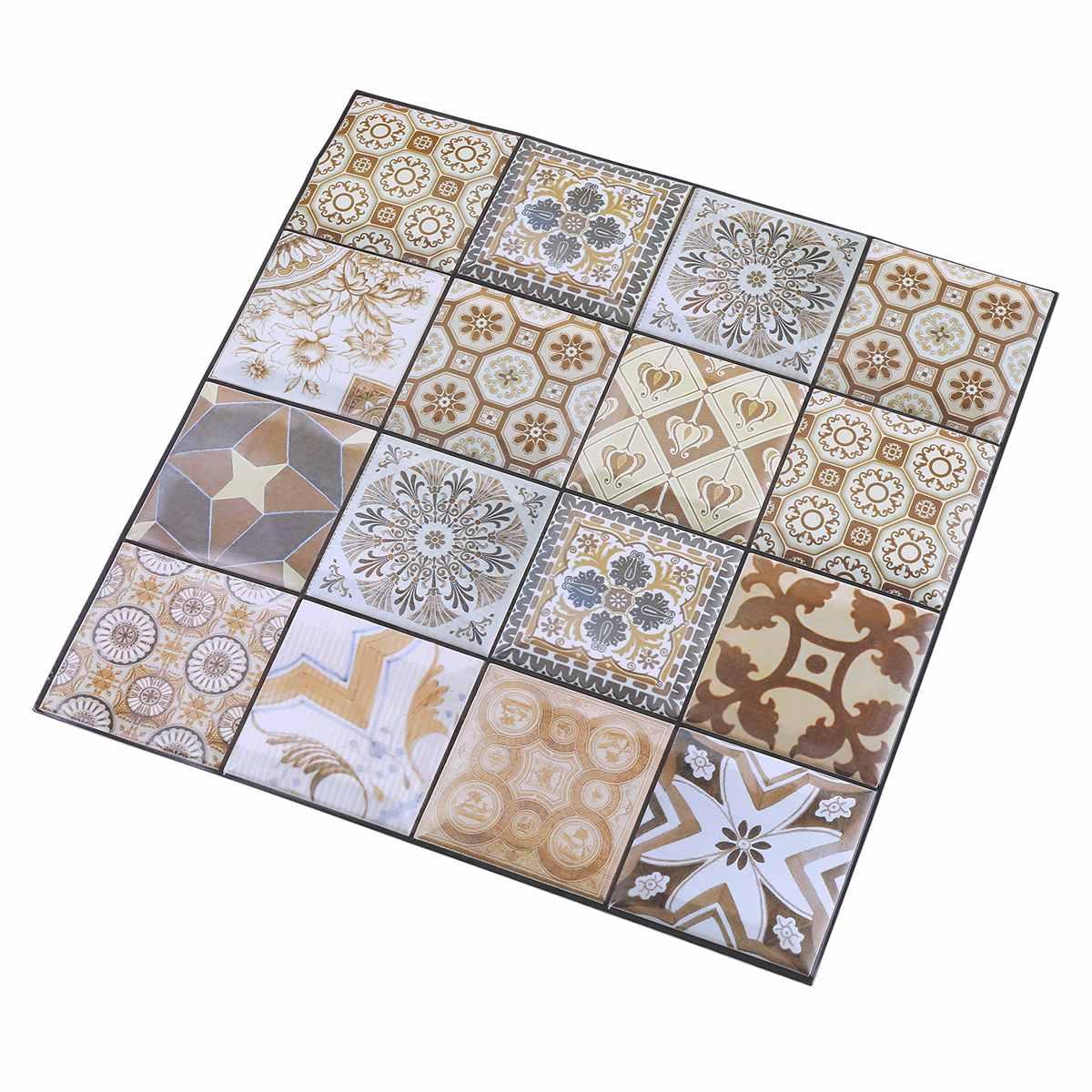 Nouveau 10 pièces/ensemble PVC auto adhésif Stickers muraux 3D pierre papier peint cuisine chambre salon TV fond papier peint décor 30*30 - 3