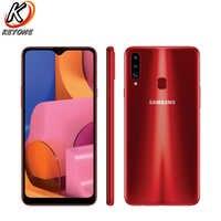 """Nuevo Samsung Galaxy A20s A207F-DS teléfono móvil 6,5 """"3 GB RAM 32GB ROM Octa Core Triple cámara trasera 13.0MP + 8.0MP + 5.0MP huella digital"""