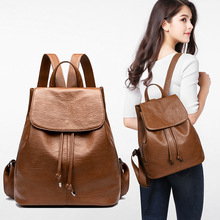 2019 Fashion Women High Quality Mochila Women's Cow SkinLeather Backpack casual Travel Shoulder Bags School Backpack