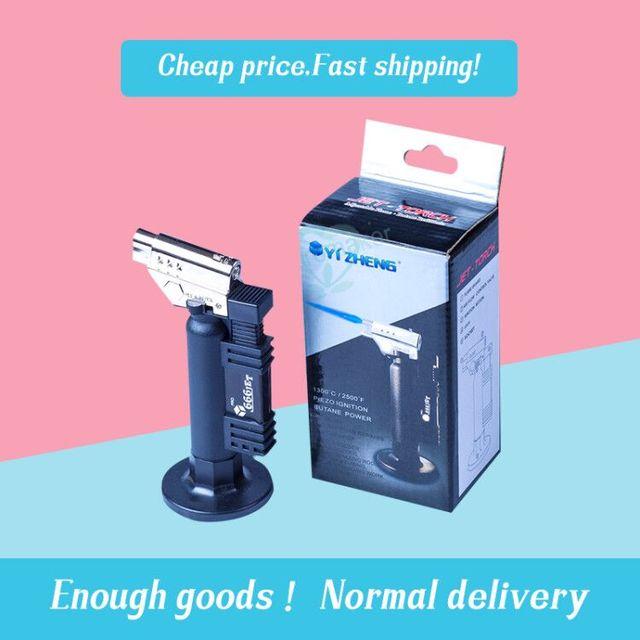 Instrumento dental gás butano micro tocha queimador de solda arma mais leve chama soldador à prova vento fonte fogo