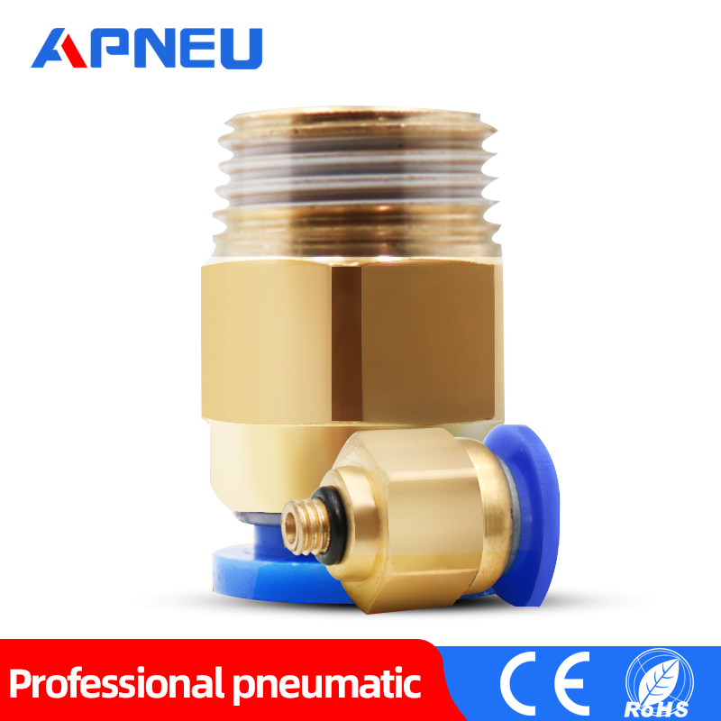 Straight Pneumatic Thrust for Quick Connect Connections G 1//8Male x 10 mm OD Tube 10 Pieces
