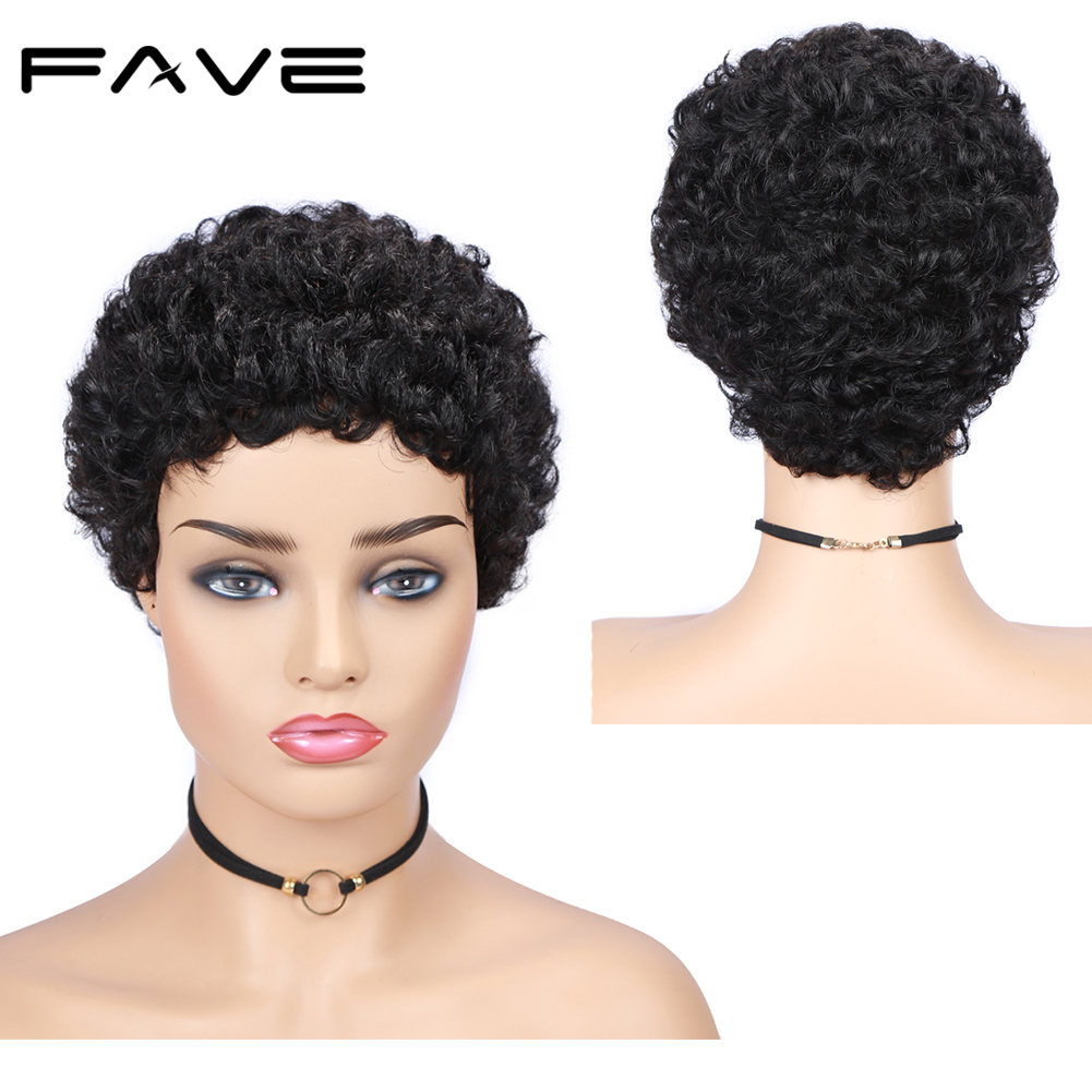 Short Afro Curly Wig Brazilian Human Remy Hair Wigs 150% Density Free Shipping Fashion And Comfortable For Black Women FAVE Hair