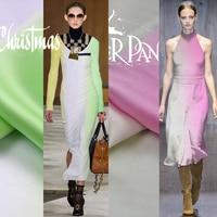 Rainbow Series Gradient Color True Silk Satin crepe satin plain 100% Silk Fabric Simple Fashion High Quality Fashion Designer
