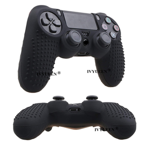 Image 5 - IVYUEEN Studded Silicone Cover Skin Case for Sony PlayStation 4 PS4 Pro Slim Controller Gamepad Cover with 2 Thumb Grips Caps