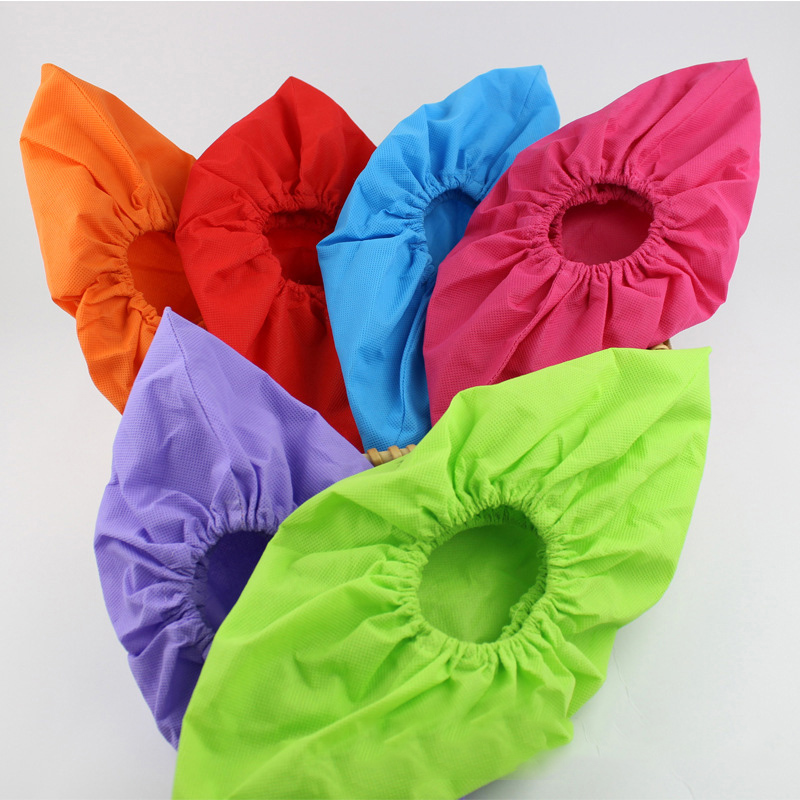 1 Pair Non-woven Shoe Covers Washable Reusable Shoe Covers Thickened Antiskid Boot Covers For Household Children Adult