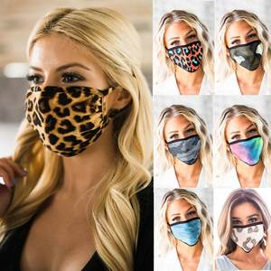Print Mask Scarf Mouth Muffle Anti-Ultraviolet Washable Fast-Delivery Adult Women Within