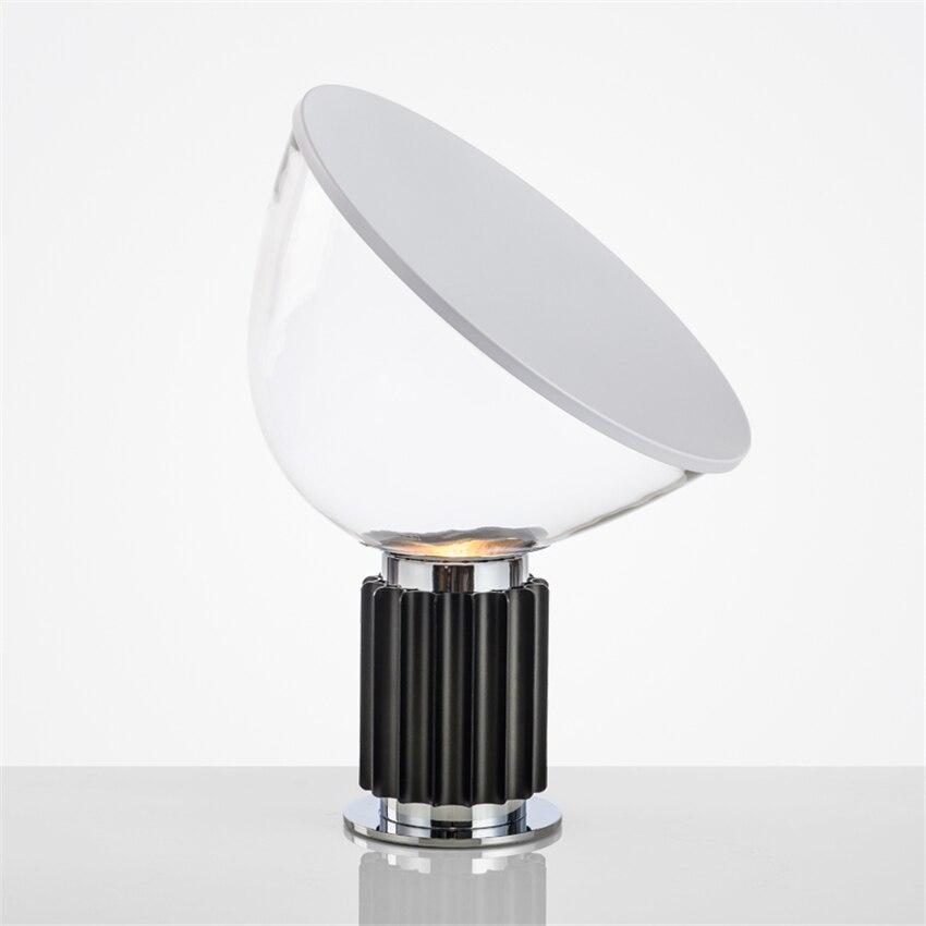 Скандинавский стеклянный абажур, светодиодная настольная лампа, радарная форма, Декор, настольные лампы для спальни, гостиной, настольные л...