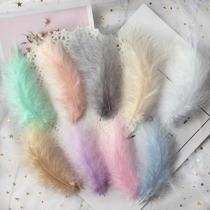 50 Pcs Chicken Feather 10-15 Cm 4-6 Inches Turkey Feathers Carnival Halloween Christmas DIY Craft Decoratie Wedding Decoration