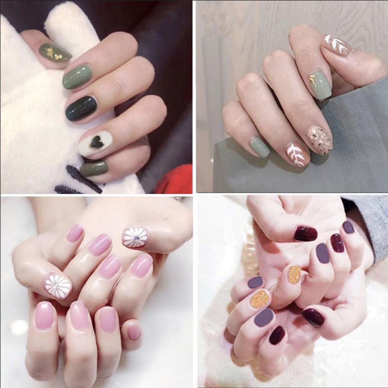 14sheets/set Fashion Plaid Nail Sticker Nails Toenails Nail Applique Resin Non-destructive Nails Eco-friendly Manicure Tool