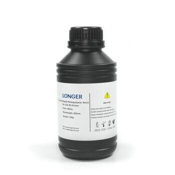 Более длинный Стандартный Быстрый фотополимерный смола для оранжевого серии SLA 3d принтер 500 г (белый)