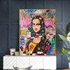 Affiche Mona Lisa pop art 7 Affiches et imprim s de style Graffiti Mona Lisa pour d coration int